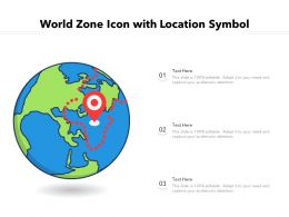 World Zone Icon With Location Symbol