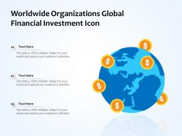Worldwide Organizations Global Financial Investment Icon