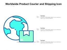 Worldwide Product Courier And Shipping Icon
