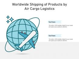 Worldwide Shipping Of Products By Air Cargo Logistics