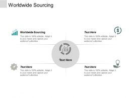 Worldwide Sourcing Ppt Powerpoint Presentation Professional Shapes Cpb