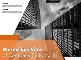 Worms Eye View Of Company Building