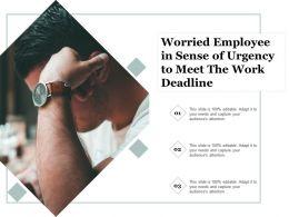 Worried Employee In Sense Of Urgency To Meet The Work Deadline