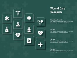 Wound Care Research Ppt Powerpoint Presentation Show Influencers