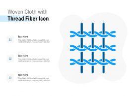 Woven Cloth With Thread Fiber Icon