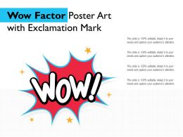 Wow Factor Poster Art With Exclamation Mark