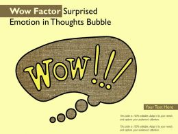 Wow Factor Surprised Emotion In Thoughts Bubble