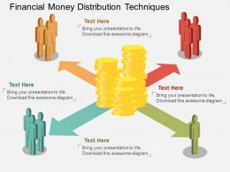 wp Financial Money Distribution Techniques Flat Powerpoint Design
