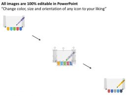 wq_five_banners_with_paper_roll_and_pen_diagram_flat_powerpoint_design_Slide02