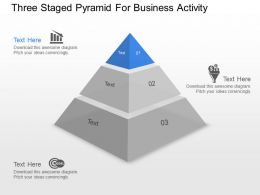 Wq Three Staged Pyramid For Business Activity Powerpoint Template