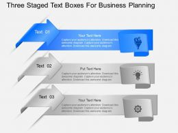 Wr Three Staged Text Boxes For Business Planning Powerpoint Template