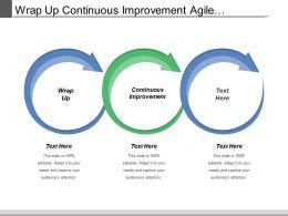 Wrap Up Continuous Improvement Agile Measurement Concept Review