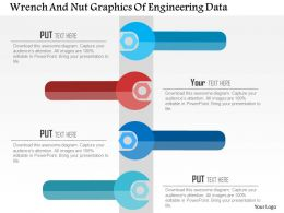 Wrench And Nut Graphics Of Engineering Data Flat Powerpoint Design