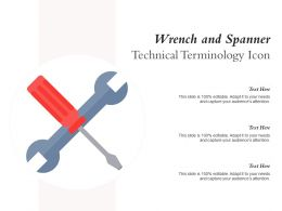 Wrench And Spanner Technical Terminology Icon