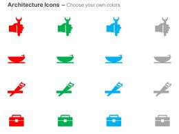 Wrench Bath Tub Hand Saw Tool Kit Box Ppt Icons Graphics