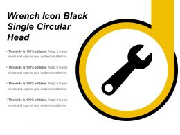 Wrench Icon Black Single Circular Head