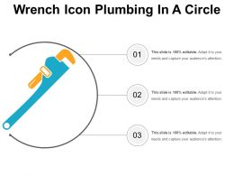 Wrench Icon Plumbing In A Circle
