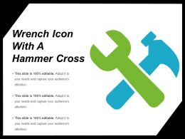 Wrench Icon With A Hammer Cross