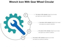 Wrench Icon With Gear Wheel Circular