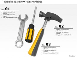 Wrench Screwdriver And Hammer For Repair And Service