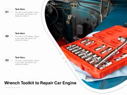 Wrench Toolkit To Repair Car Engine