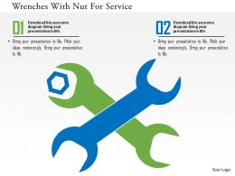 wrenches_with_nut_for_service_flat_powerpoint_design_Slide01