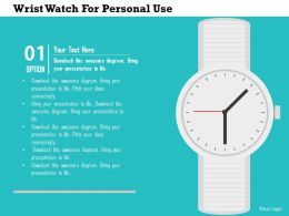 Wrist Watch For Personal Use Flat Powerpoint Design