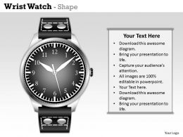 Wrist Watch Powerpoint Template Slide