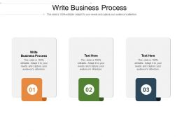 Write Business Process Ppt Powerpoint Presentation Outline Examples Cpb