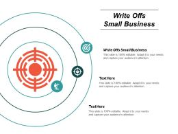 Write Offs Small Business Ppt Powerpoint Presentation Gallery Example File Cpb