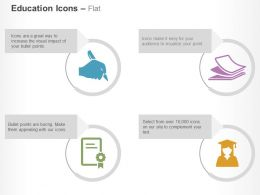 writer_papers_certificate_graduation_cap_ppt_icons_graphics_Slide01