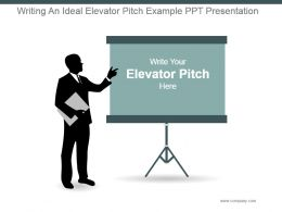 Writing An Ideal Elevator Pitch Example Ppt Presentation