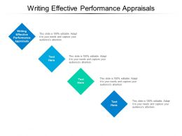 Writing Effective Performance Appraisals Ppt Powerpoint Presentation Styles Sample Cpb