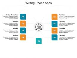 Writing Phone Apps Ppt Powerpoint Presentation Inspiration Graphics Cpb