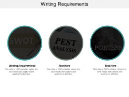 Writing Requirements Ppt Powerpoint Presentation Icon Slide Download Cpb