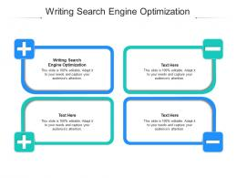 Writing Search Engine Optimization Ppt Powerpoint Presentation Gallery Design Ideas Cpb
