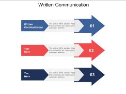 Written Communication Ppt Powerpoint Presentation Infographic Template Example Introduction Cpb