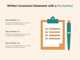 Written Conclusion Statement With A Pen Symbol