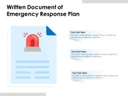 Written Document Of Emergency Response Plan