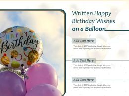 Written Happy Birthday Wishes On A Balloon