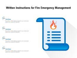 Written Instructions For Fire Emergency Management