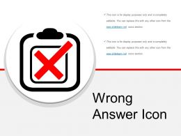 Wrong Answer Icon