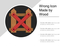 Wrong Icon Made By Wood