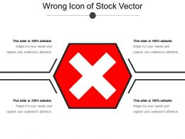 Wrong Icon Of Stock Vector