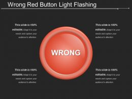 Wrong Red Button Light Flashing