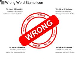 Wrong Word Stamp Icon