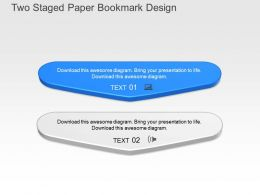 Ws Two Staged Paper Bookmark Design Powerpoint Template