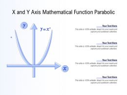 X And Y Axis Mathematical Function Parabolic