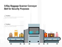 X Ray Baggage Scanner Conveyor Belt For Security Purposes