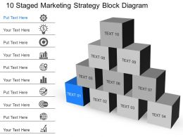 Xb 10 Staged Marketing Strategy Block Diagram Powerpoint Template